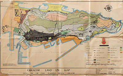 Land use map Gibraltar